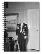 In The Photo The New President Of The Republic Urho Kekkonen Is Photographed At The Presidential Pa Spiral Notebook