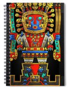 Incan Gods - The Great Creator Viracocha On Black Canvas Spiral Notebook
