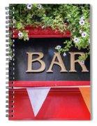 Irish Bar In Dublin Spiral Notebook