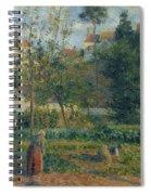 Kitchen Garden At The Hermitage, Pontoise, 1879 Spiral Notebook