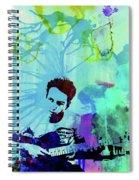 Legendary Joe Strummer Watercolor Spiral Notebook