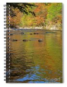 Little River In Autumn In Smoky Mountains National Park Spiral Notebook
