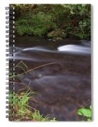 Long Exposure Photographs Of Rolling River With Fall Foliage Spiral Notebook