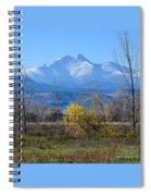 Longs Peak In The Fall  Spiral Notebook