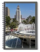 Los Angeles City Hall And Arthur J. Will Memorial Fountain Spiral Notebook