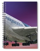 Malaysia Airlines Airbus A380-841 Spiral Notebook