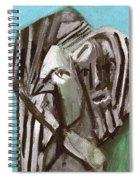Man And A Bird Spiral Notebook