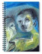 Man And Bird Spiral Notebook