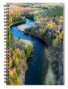 Manistee River From Above In Spring Spiral Notebook