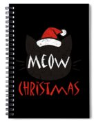 Meow Christmas Distressed Spiral Notebook