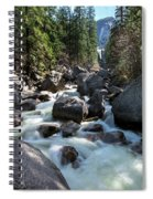 Merced River And Vernal Fall, Yosemite National Park Spiral Notebook