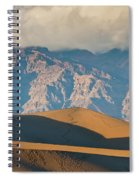 Mesquite Flat Sand Dunes At Sunset Spiral Notebook