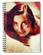 Michele Morgan, Vintage Actress Spiral Notebook