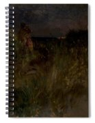 Moonrise Over The Dunes  Spiral Notebook
