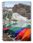 Moraine Lake Canoes Spiral Notebook