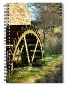 old mill wheel and stream at Preston Mill, East Linton Spiral Notebook