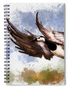 Over The Marsh  Spiral Notebook