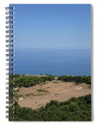Photography View Over The Mountain Village Erice In Sicily Spiral Notebook