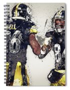 Pittsburgh Steelers.le'veon Bell And Antonio Brown Spiral Notebook