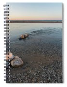 Platte River Mouth At Sunset Spiral Notebook