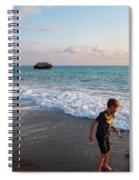 Playing Barefooted At Aphrodite's Birthplace Spiral Notebook