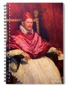 Pope Innocent X Spiral Notebook
