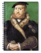 Portrait Of A Bearded Man With A Fur Coat  Spiral Notebook