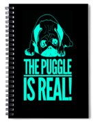 Puggle Is Real Funny Humor Pug Dog Lovers Spiral Notebook