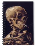 Skull With Cigarette  Spiral Notebook