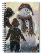 Snowman And Three Boys Spiral Notebook