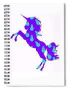 Snowman Wrapping Paper Unicorn Spiral Notebook
