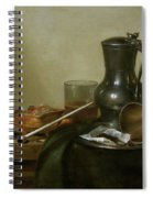 Still Life With Tobacco  Wine And A Pocket Watch  Spiral Notebook