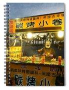 Street Vendor Cooks Grilled Squid Spiral Notebook