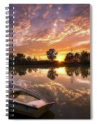 Sunset Boat Spiral Notebook