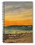 Sunset On Bradenton Beach, Fl. Spiral Notebook