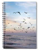 Sunset On The Beach Spiral Notebook