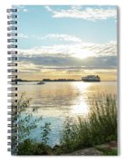 Sunset On The Elbe Spiral Notebook