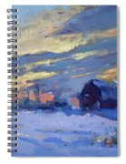 Sunset Over The Farm Spiral Notebook