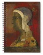 Symbolic Head, 1890 Spiral Notebook