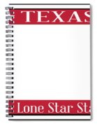 Texas State License Plate Spiral Notebook