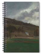 The Banks Of The Marne In Winter Spiral Notebook