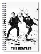 The Beatles Black And White Watercolor 01 Spiral Notebook