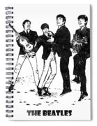 The Beatles Black And White Watercolor 02 Spiral Notebook