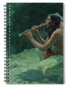 The Call Of The Flute Spiral Notebook