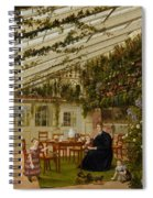The Family Of Mr  Westfal In The Conservatory  Spiral Notebook