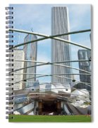 The Great Lawn, Trellis, Bandshell And Jay Pritzker Pavilion, Mi Spiral Notebook