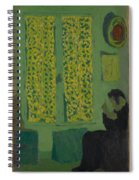 The Green Interior  Figure Seated By A Curtained Window   Spiral Notebook