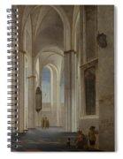 The Interior Of The Buurkerk At Utrecht  Spiral Notebook
