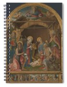 The Nativity With Saints Altarpiece  Spiral Notebook