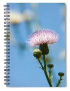 Thistle With Blue Sky Background Spiral Notebook